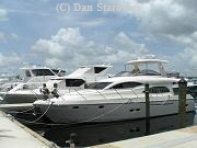 Fort Myers Yacht Basin.  Can accomidate very large vessels.